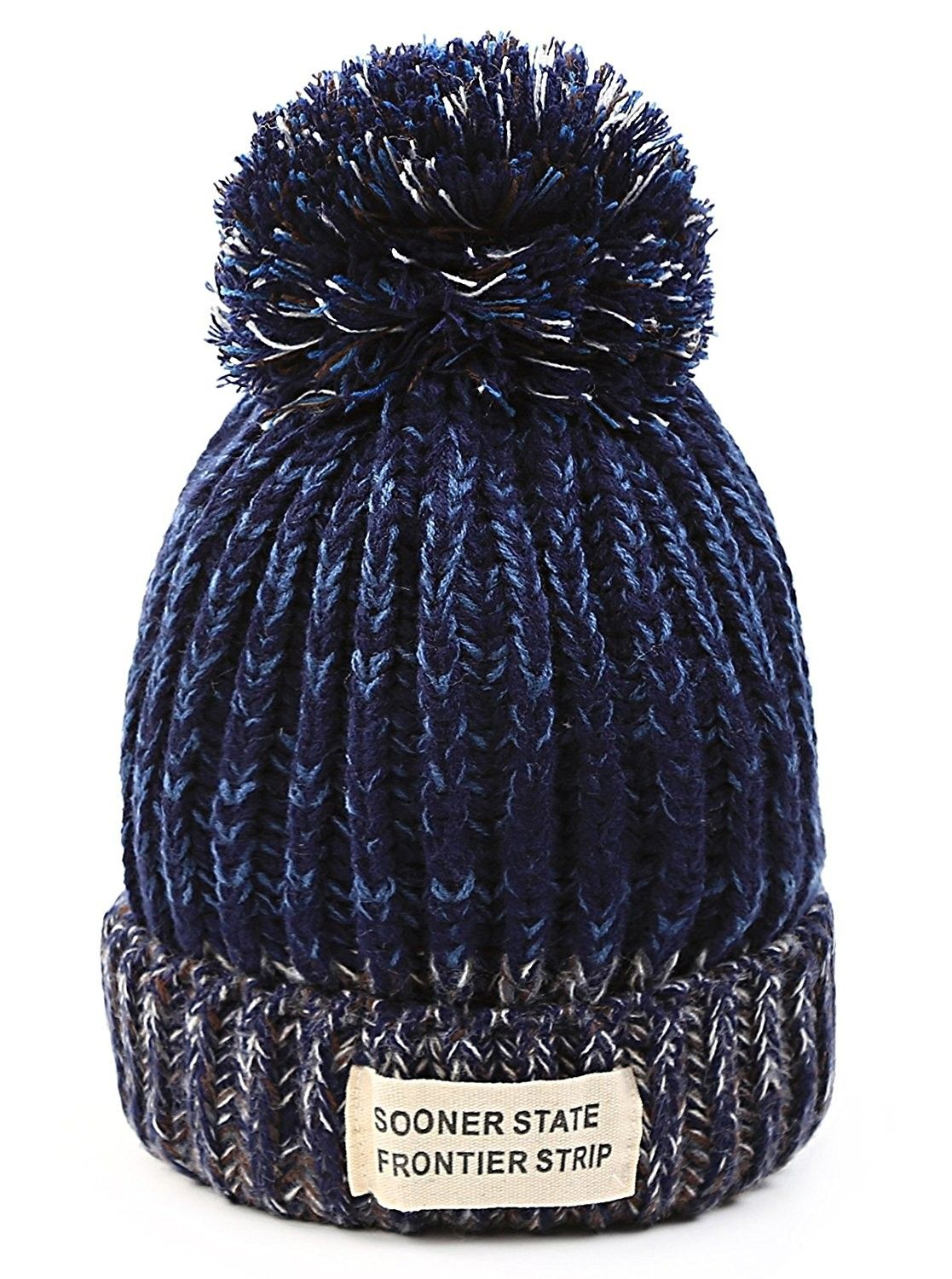 53a403a8523 Women Winter Hats - Soft Stretch Cable Knit Ribbed Faux Fur Pom Pom Beanie  Hat -