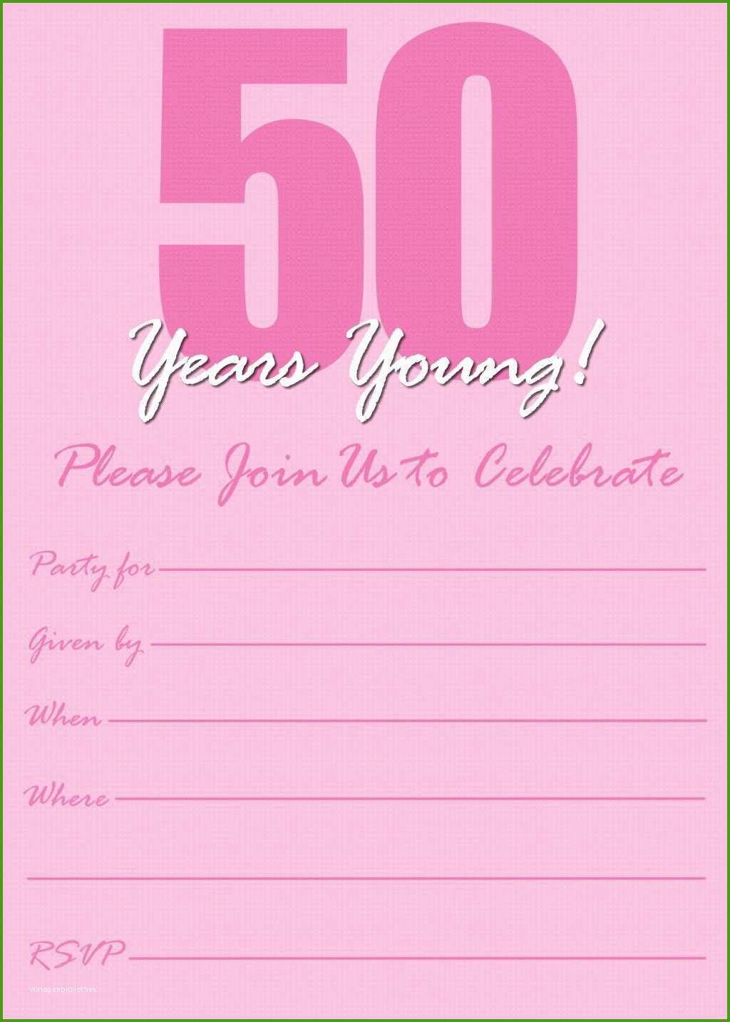 Einladung Zum 50 Geburtstag Vorlagen