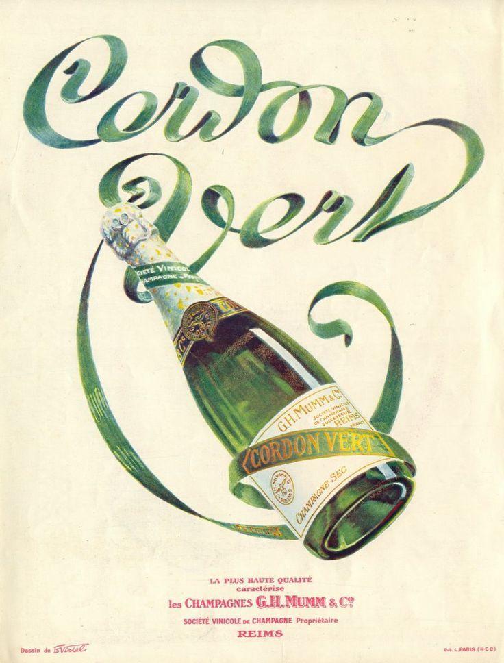 Mumm Champagne Drink Drinks   Deco Poster Print Art Ad G.H