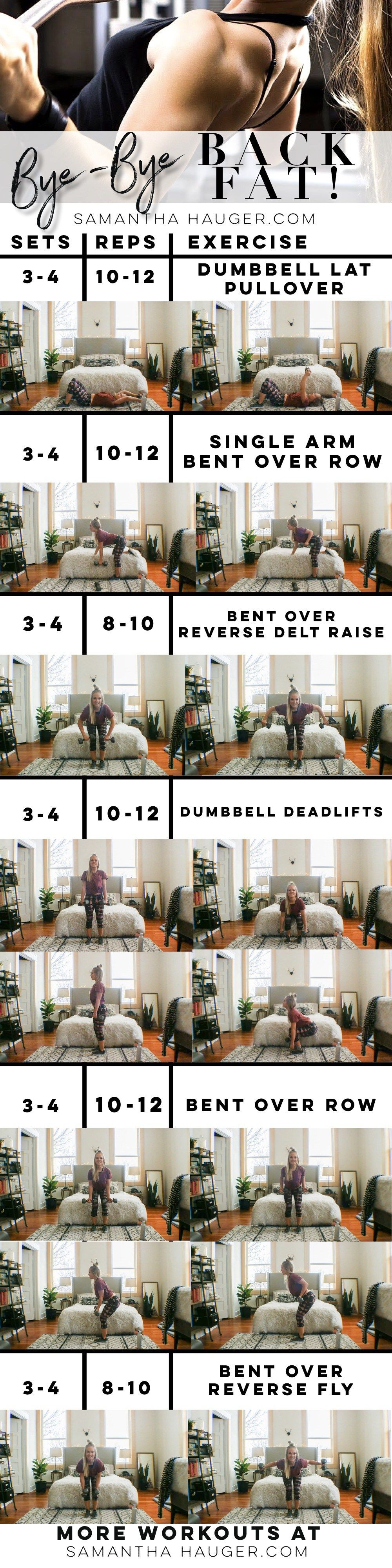 How To Get Rid Back Fat Bye Bye Back Fat Workout