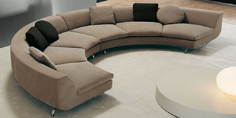 Circular Fabric Sectional Sofa
