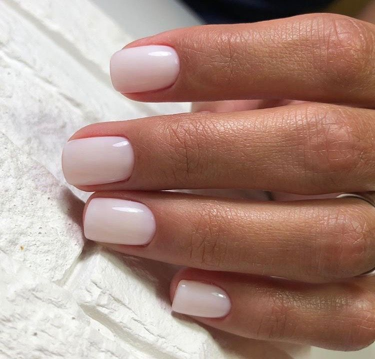 Love This Creamy Dreamy White Neutral Pretty Nails Nail Colors Bridal Nails