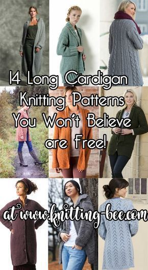 14 Long Cardigan Knitting Patterns You Wont Believe Are Free