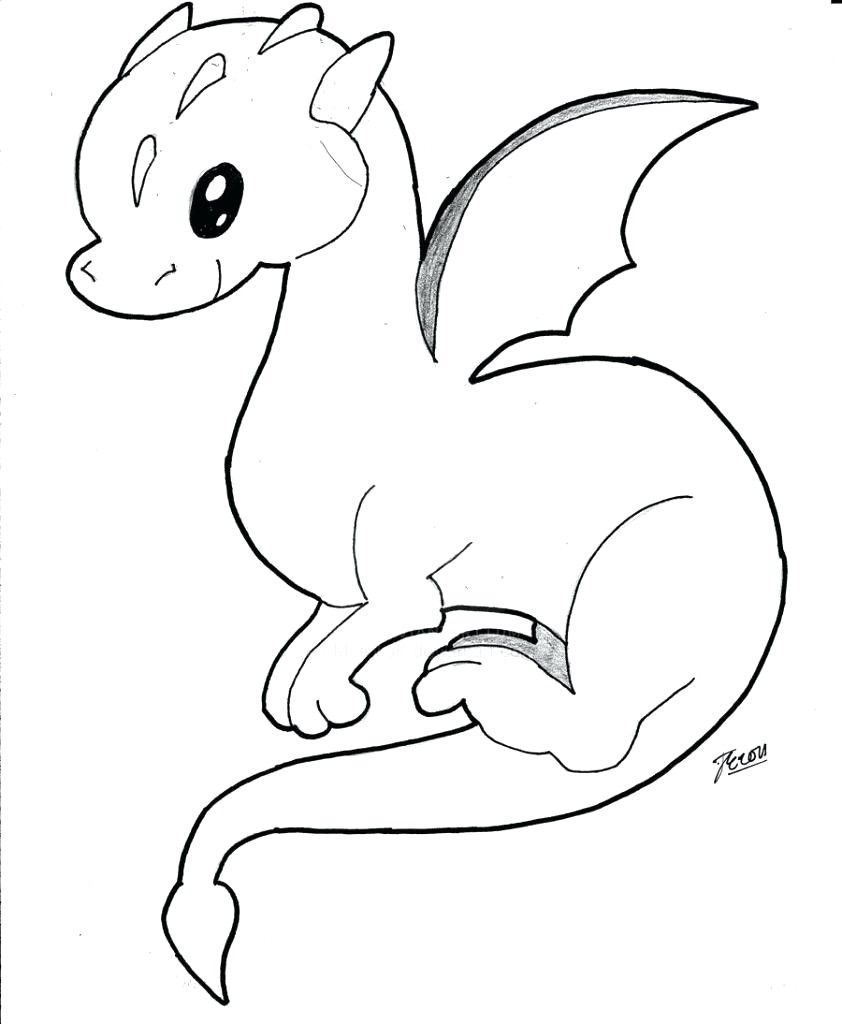 Cool Dragon Coloring Pages Ideas Simple Dragon Drawing Easy Dragon Drawings Dragon Coloring Page