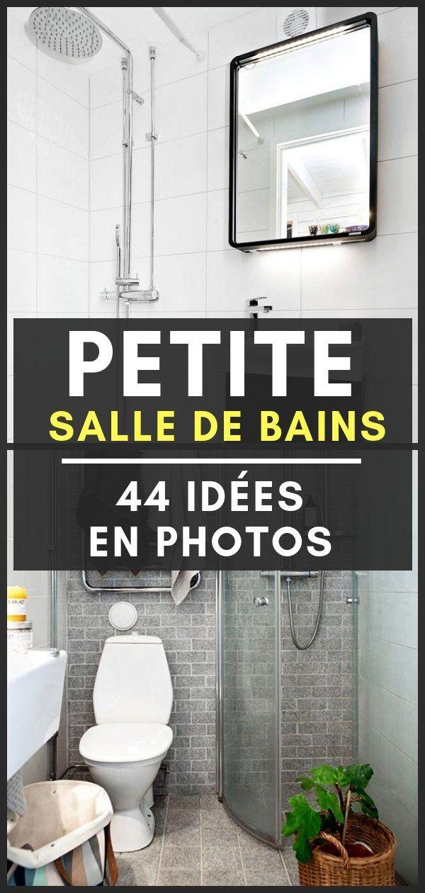 Petite salle de bain 44 photos id es inspirations petits espaces petite salle de bain - Amenagement placard salle de bain ...