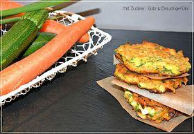 Mit Zucker, Salz & Bauchgefühl: Zucchini-Möhren-Puffer