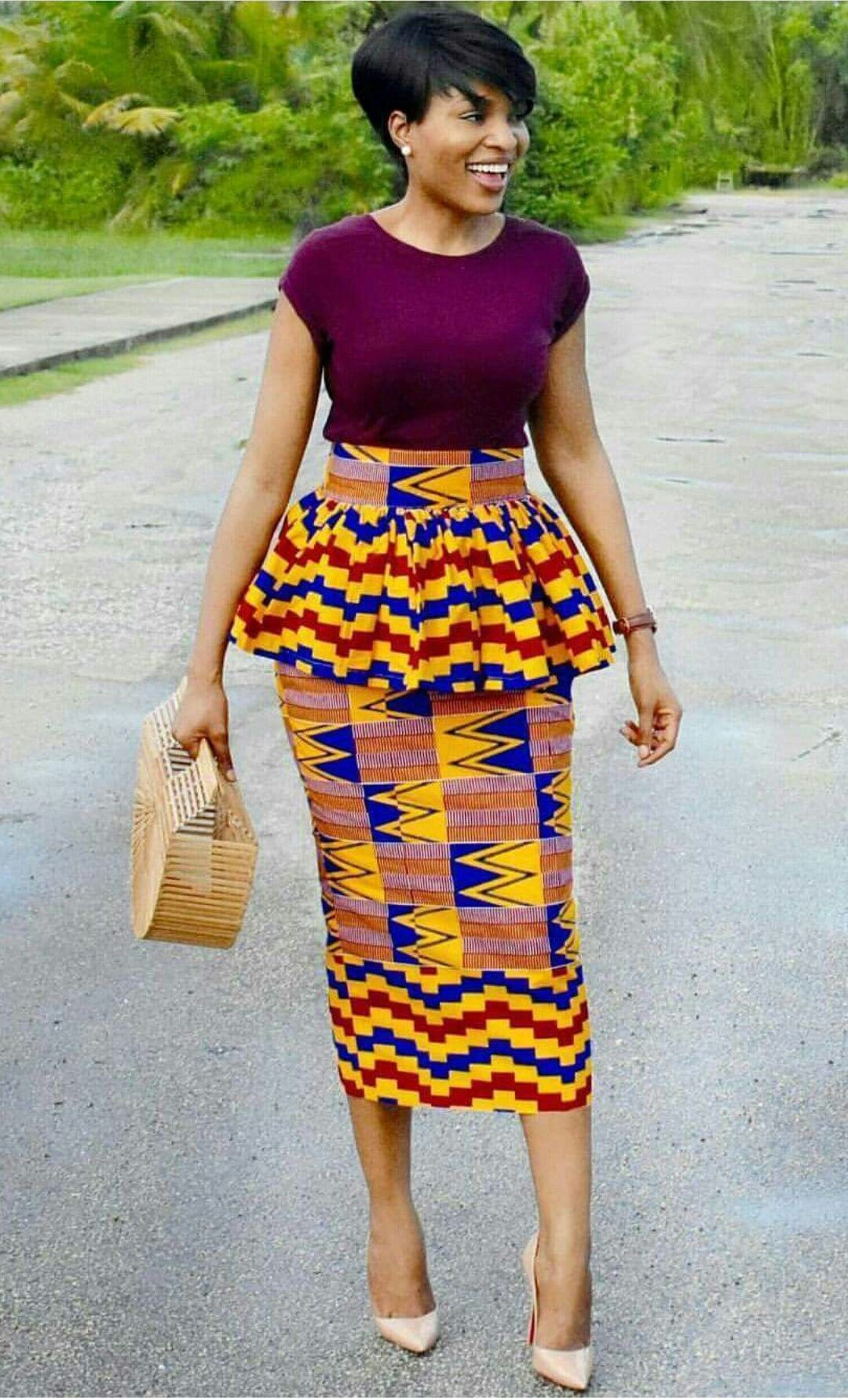 Gorgeous Kente Pencil Skirt African Pencil Skirt African Print Skirt African Fashion