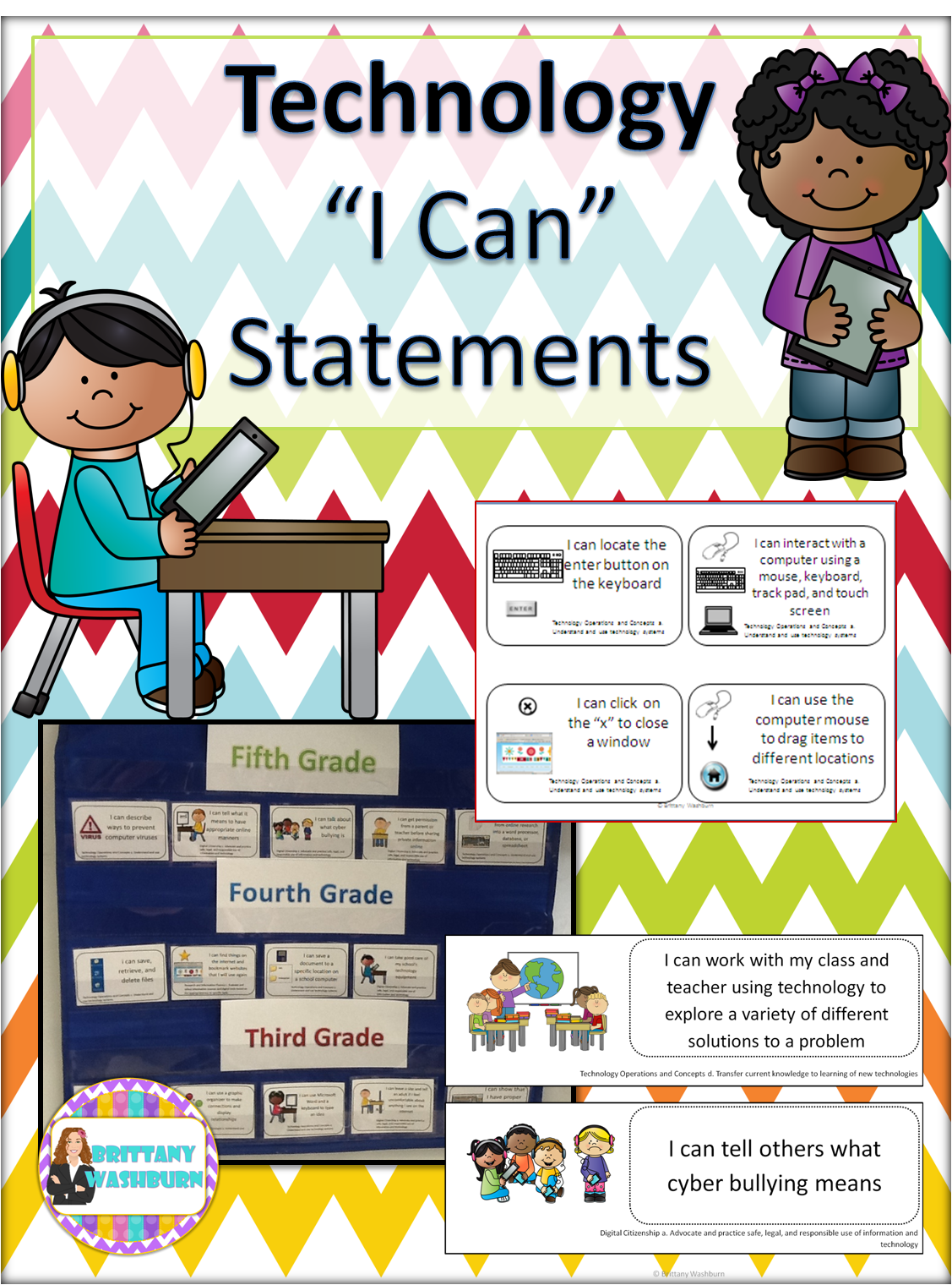 Technology I Can Statements Perfect For The Classroom Teacher Who Integrates Technology On A