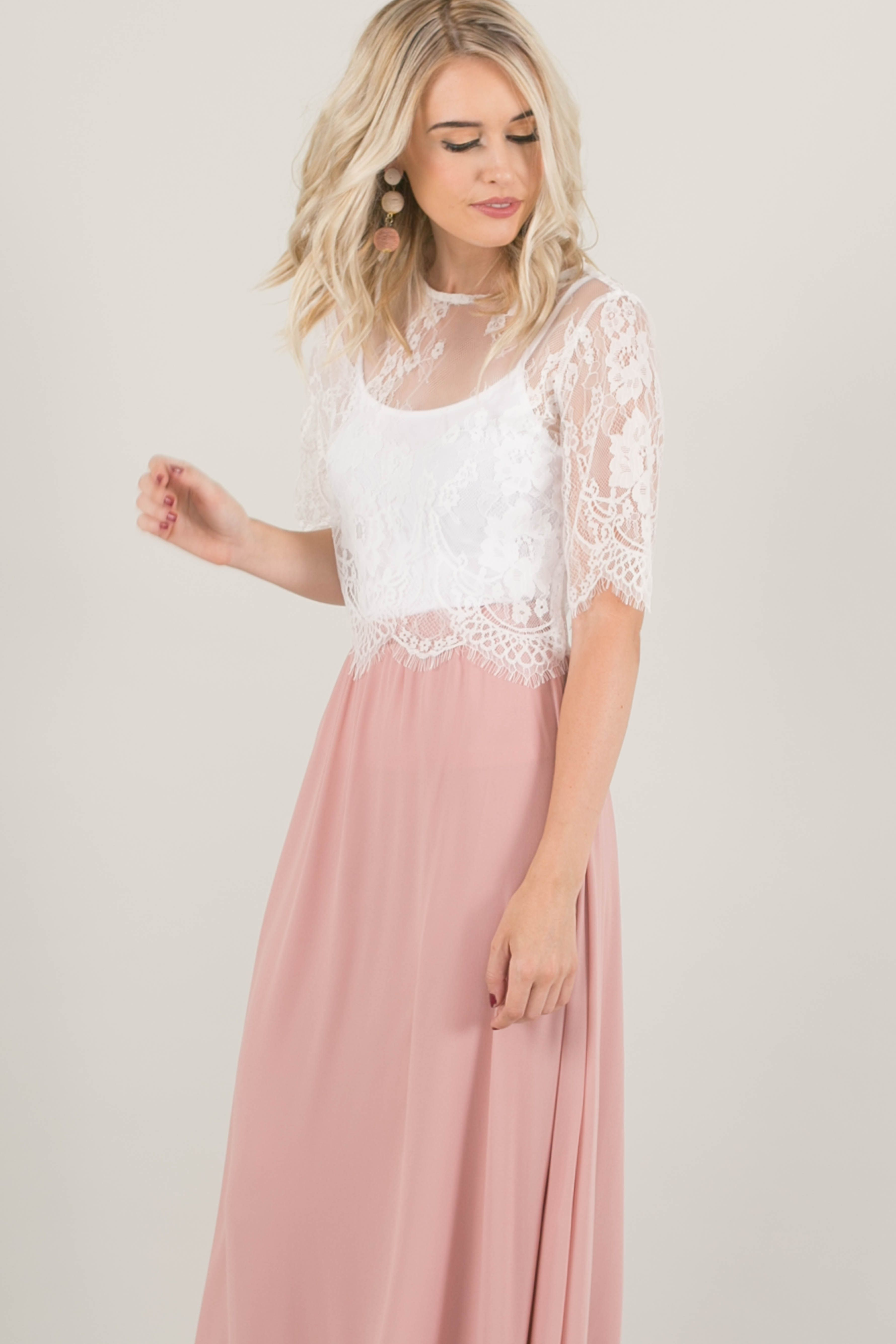 lace top, lace crop top, engagement lace top, bridal separates, pink ...