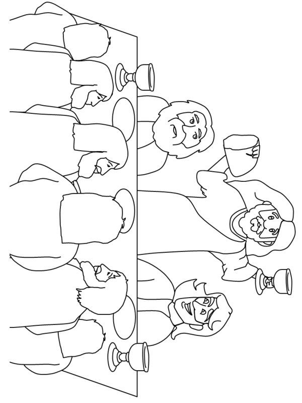 Last Supper Coloring Page | The Last Supper Coloring Pages Picture ...