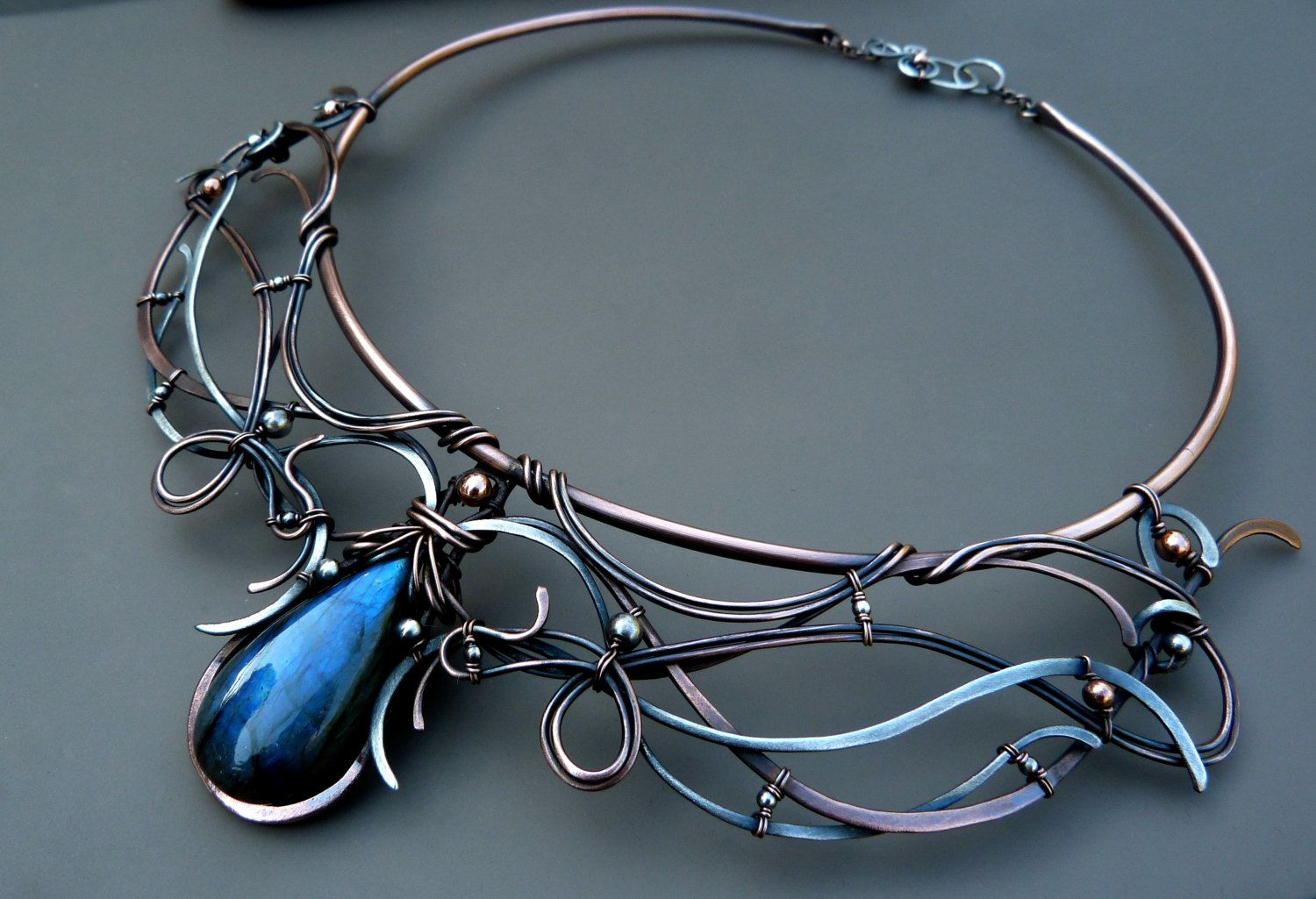 Dance Of The Spirits - Collar Necklace Handcrafted Mixed Metal ...