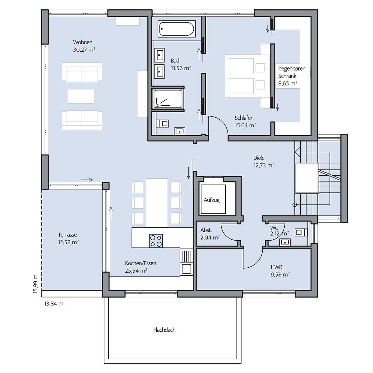Haus-Collmann_Grundriss_EG_bemasst_col16-hg.jpg (1200×1200) | case ...