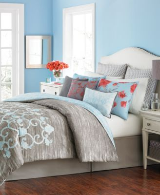 Martha Stewart Collection Camille 10-Pc. Full Comforter Set, Only ...