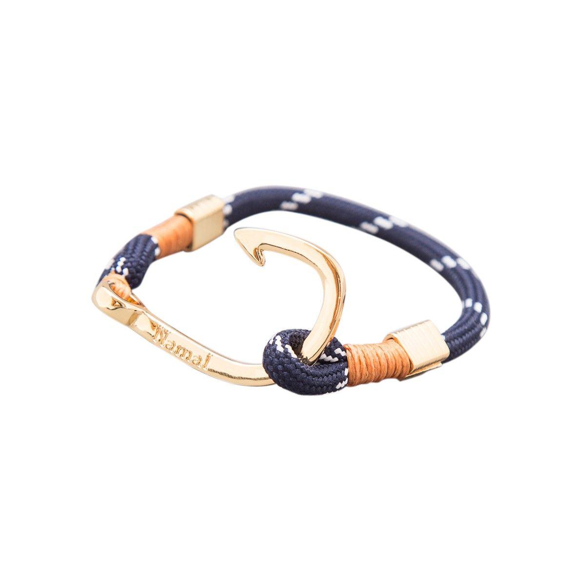 Bracelet Or Jolly Homme Roger Ancre 24k NamalBijoux eD2IYWbEH9