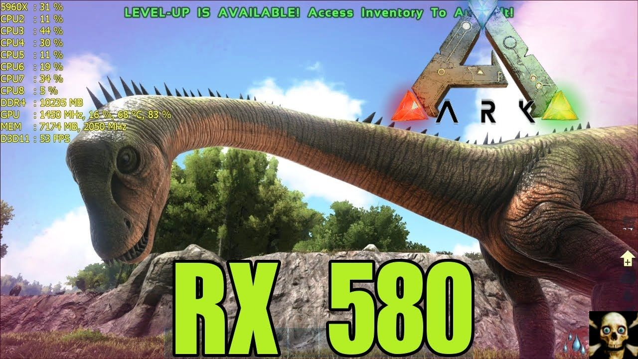 Ark: Survival Evolved RX 580 Fps Performance Gameplay 1080P | AMD