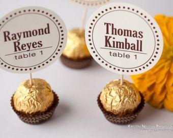 Ferrero Rocher Wedding Reception Chocolate Truffles Escort Or Place Cards Card Party Favor Favors Were Designed