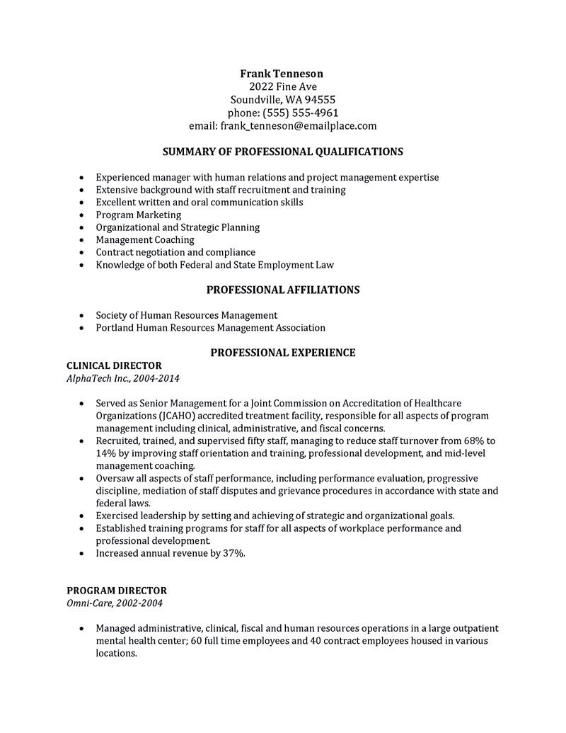 Human Resource Management Resume Example Human Resources Resume Human Resources Resume That .