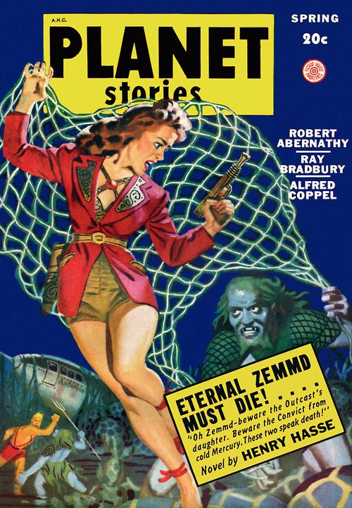 Planet Stories, Spring 1949 Cover by Allen Anderson