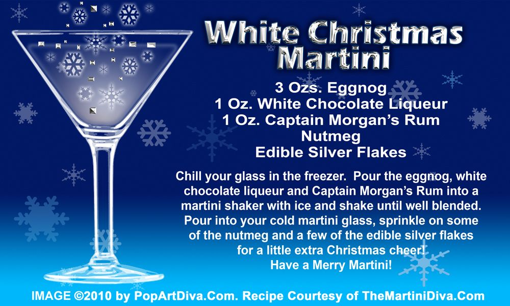 WHITE CHRISTMAS EGGNOG MARTINI recipe on a Free Recipe Card ...