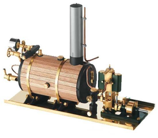 small steam engines for boats | alex 2 cylinder steam engine ...