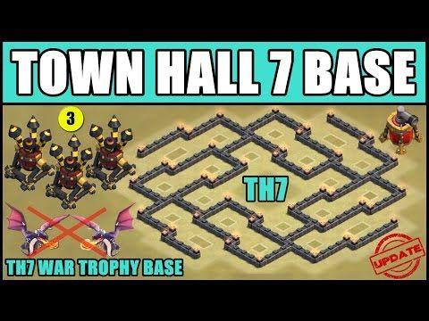 Town Hall 7 War Base With 3 Air Defense Air Sweeper Coc Th7 Anti Dragon Base Three Air Defense Clash Of Clans Dragon Base Clan