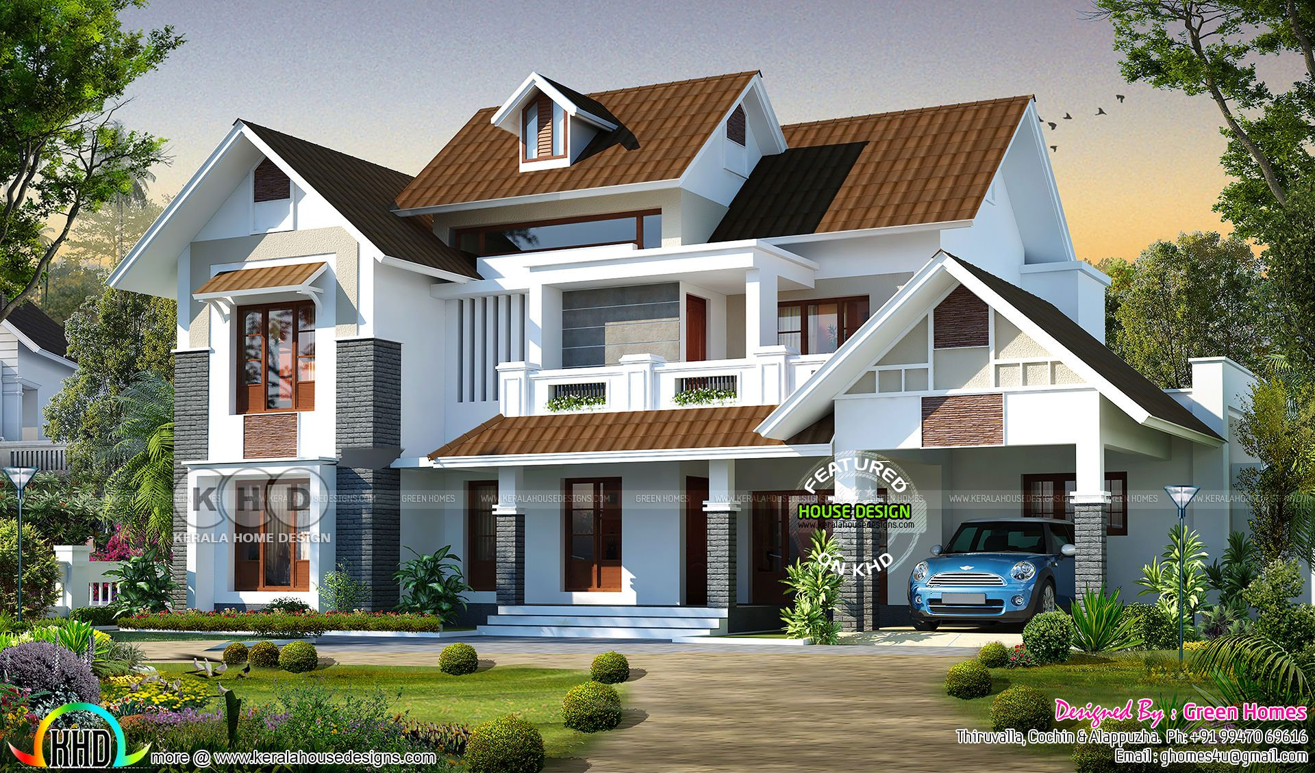 Beautiful 4 Bedroom Sloping Roof 2800 Sq Ft Home