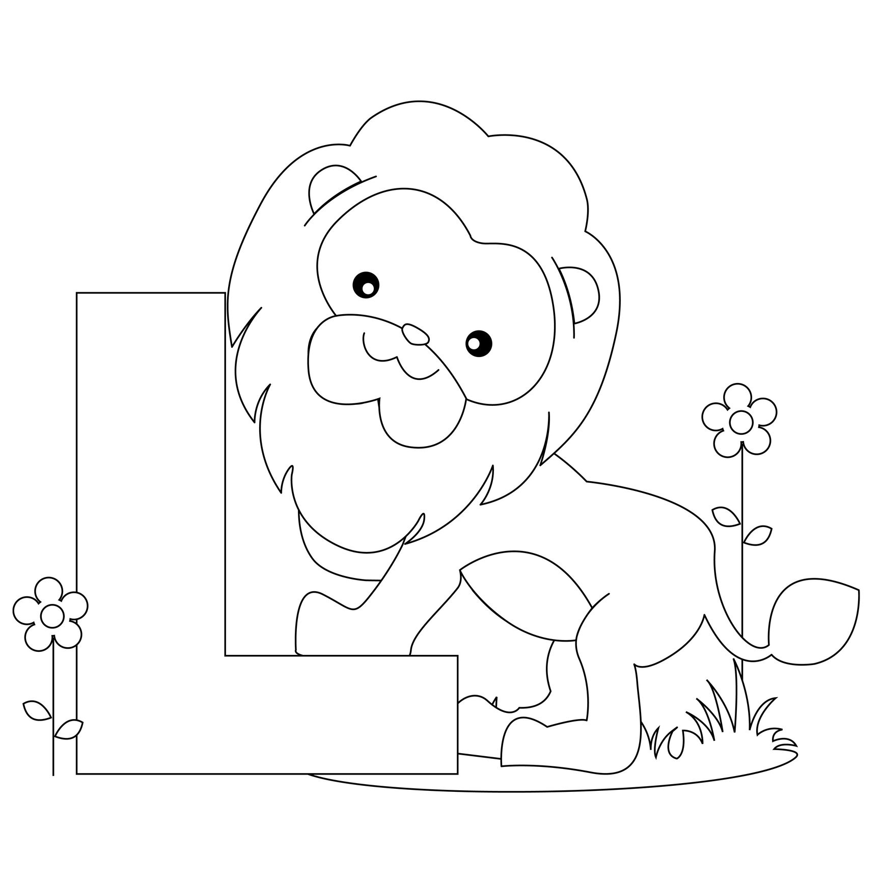 Amazing Printable Animal Alphabet Worksheets Letter L Is For Lion   Printable Coloring  Pages For Kids