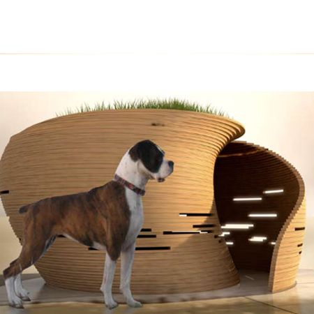 Deluxe designer dream dog house cat home dog play house for Architecture and design dog house