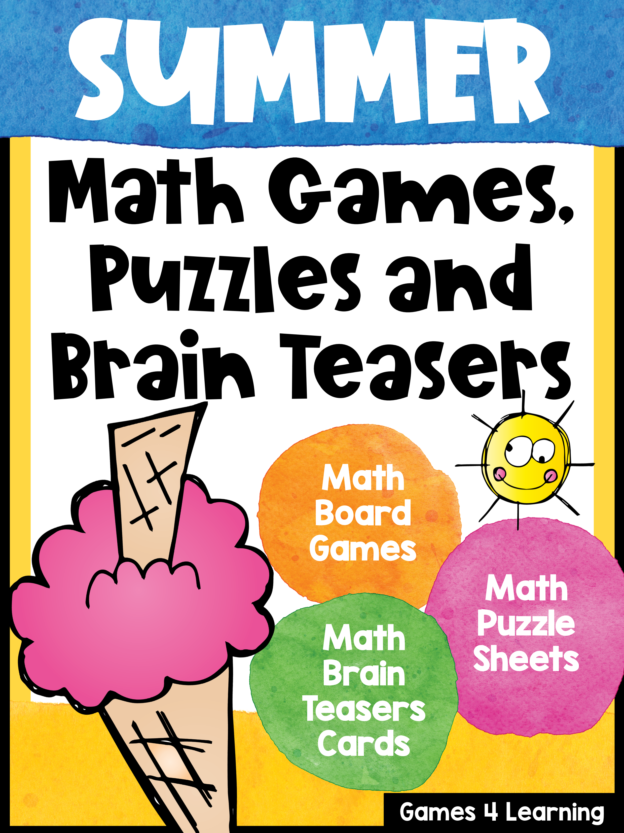 Summer Math Packet With Games Puzzles And Brain Teasers
