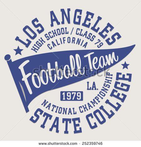 ea6fb2c73 Football sport California typography, t-shirt graphics, vectors ...