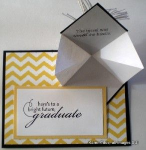 Stampin Up Graduation Card With A Fun Fold Karentitus Com Stampin Up Graduation Cards Graduation Cards Handmade Graduation Cards