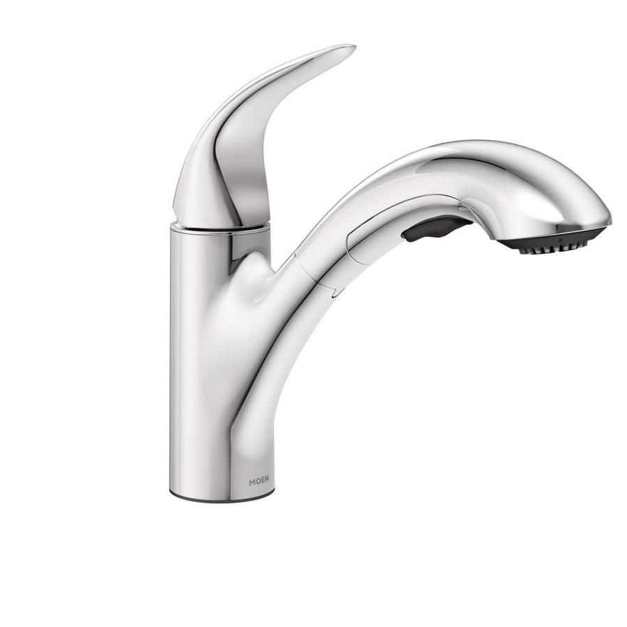 Moen Yorkshire Chrome 1 Handle Deck Mount Pull Out Commercial
