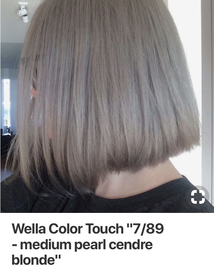Gorgeous Wella Blonde Toner Glaze Color Formula With A Silver Gray