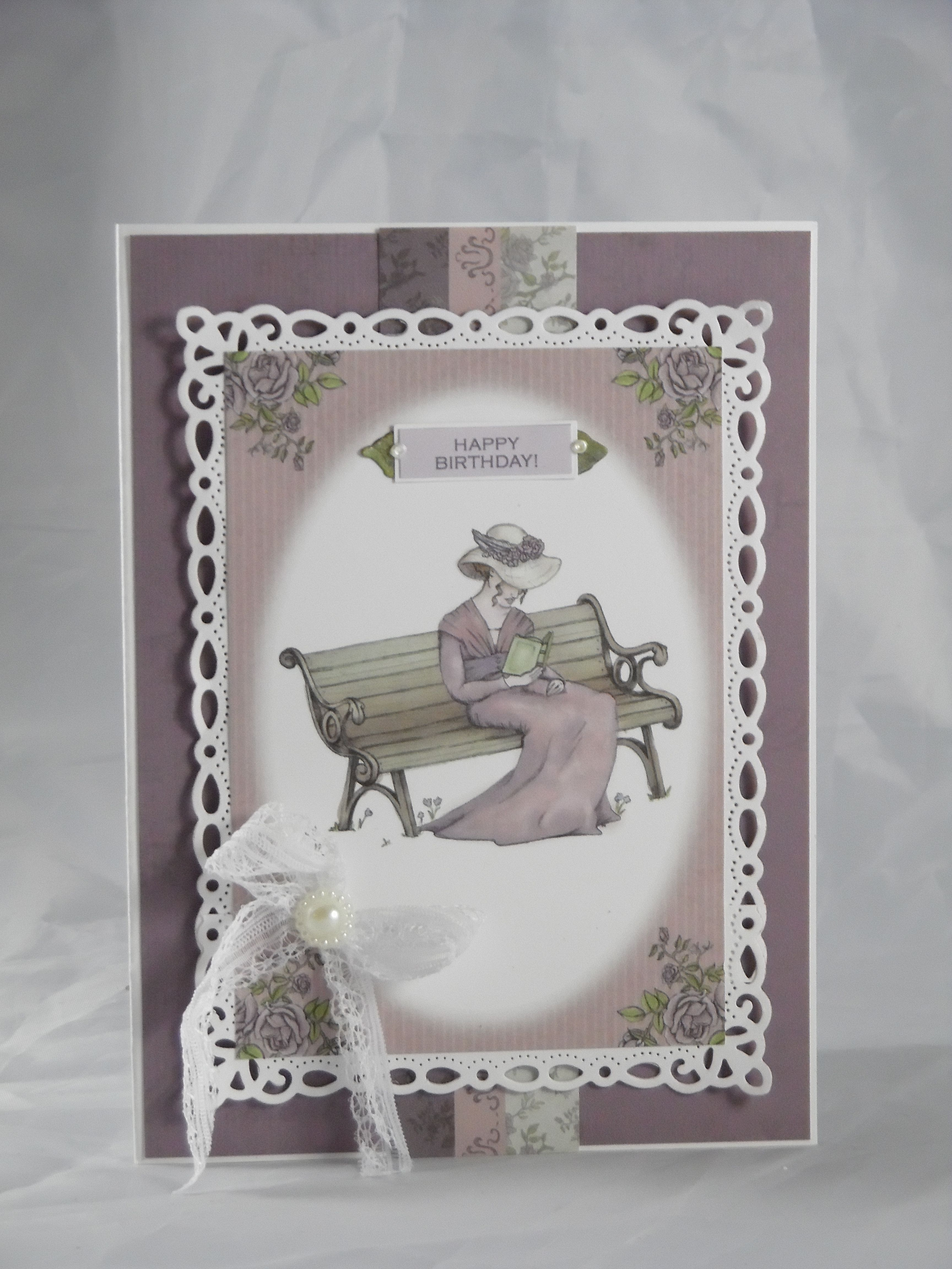simple birthday card made with designsshellie tranquil