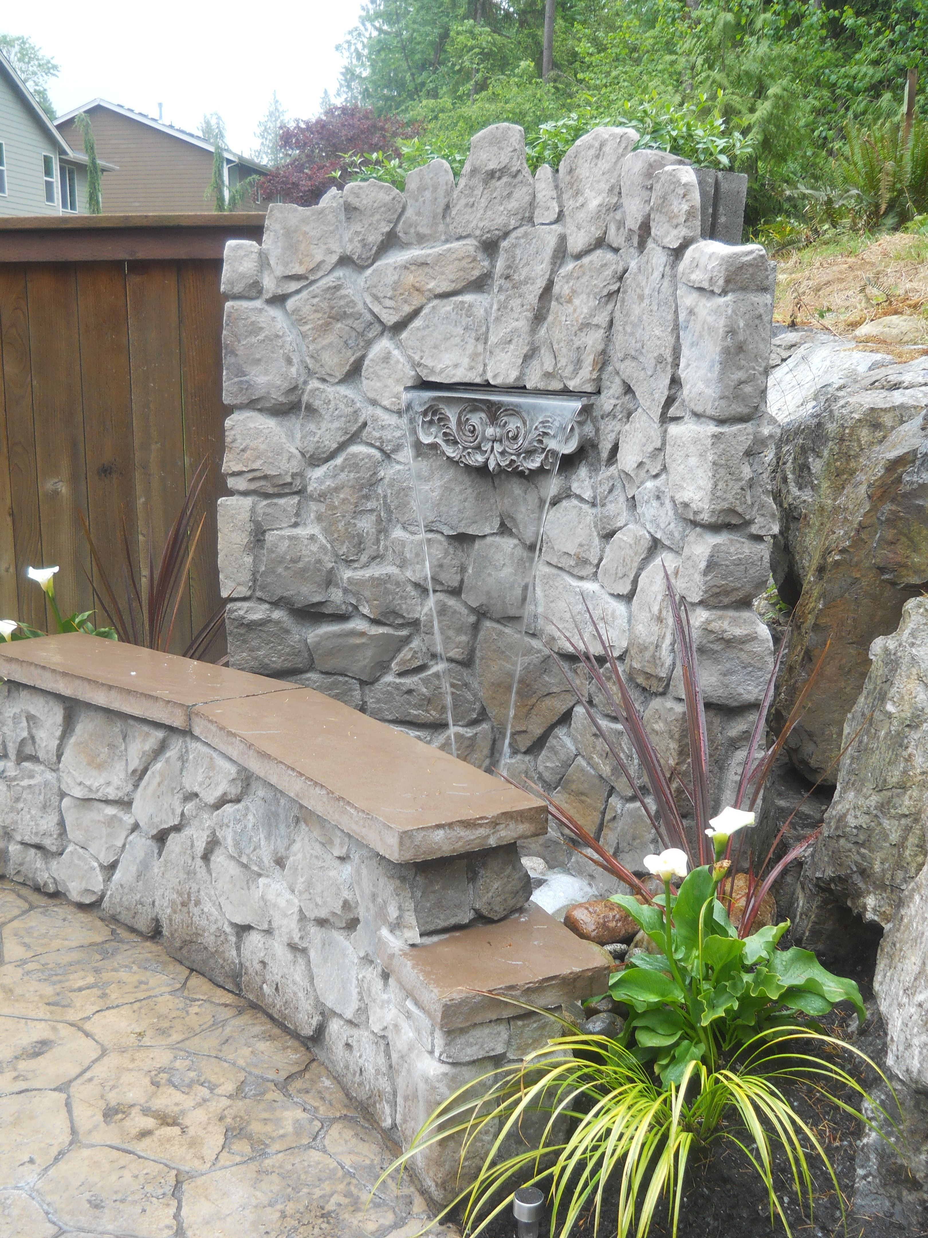 DIY Waterfall (After pic2 of 4) - in corner of my backyard ...