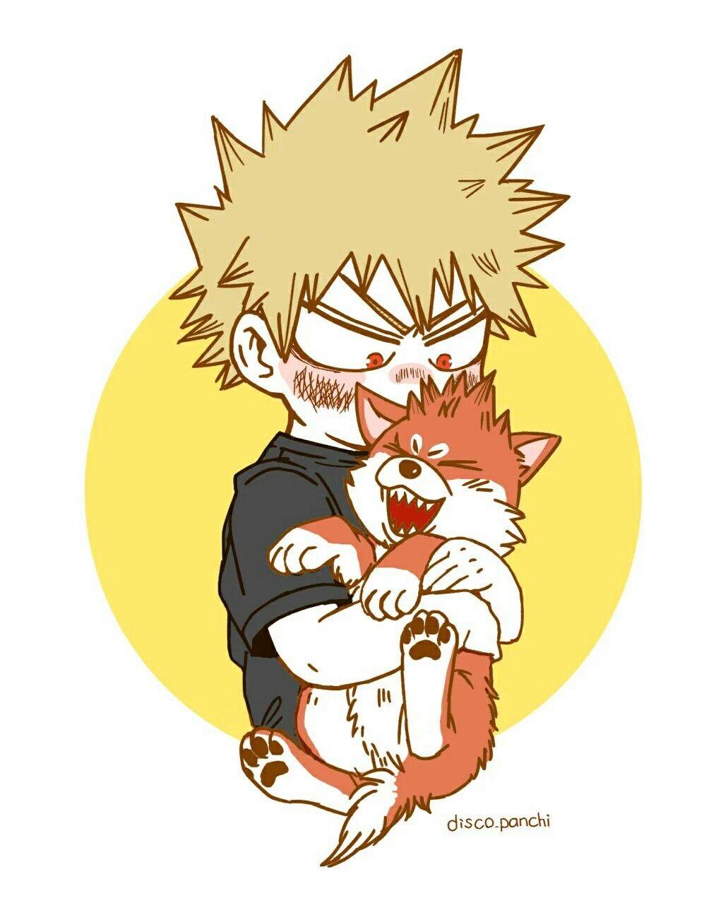Bakugou Katsuki Dog Kirishima Eijirou Boku No Hero Academia Hero My Hero