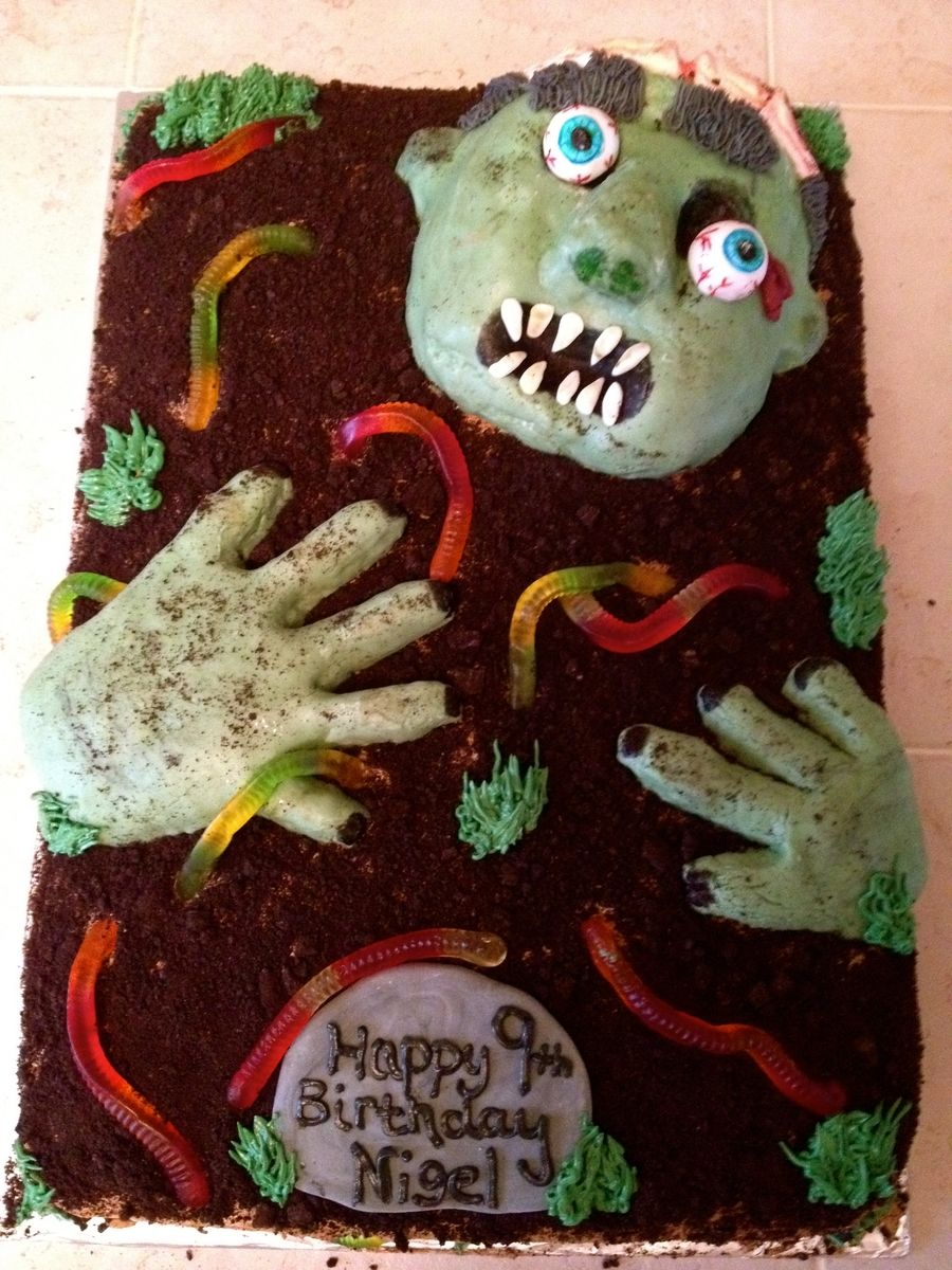 Zombie Cake CakeBoard Pinterest Cake Zombie party and Birthdays