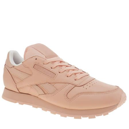 212d1bc5614 womens reebok pale pink classic leather spirit trainers