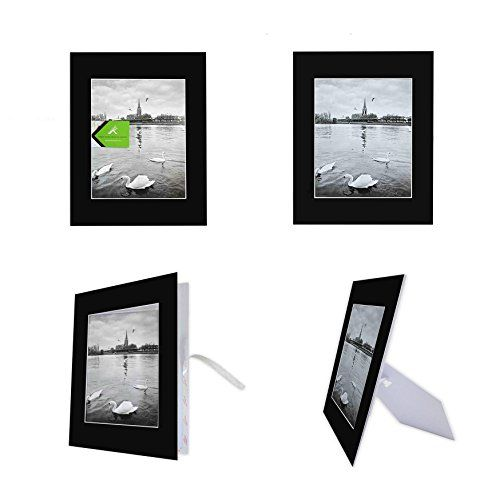 Golden State Art Pack Of 10 Black 11x14 Selfassemble Photo Mat For 8x10 Picture With Back Picture Frame Shop Picture Framing Supplies Picture Framing Materials