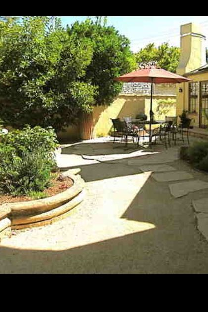 Decomposed Granite With Slate Stepping Stones Backyard Plan Patio Ideas Garden