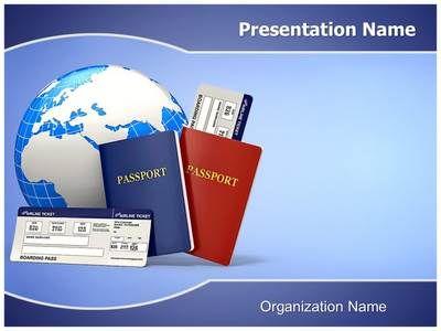 tickets passport powerpoint template