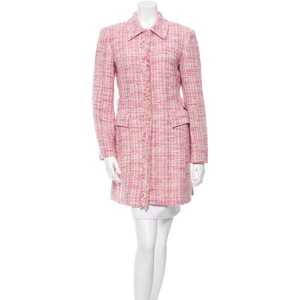 Pre-owned M Missoni Knee-Length Tweed Coat ($195) ❤ liked on ...