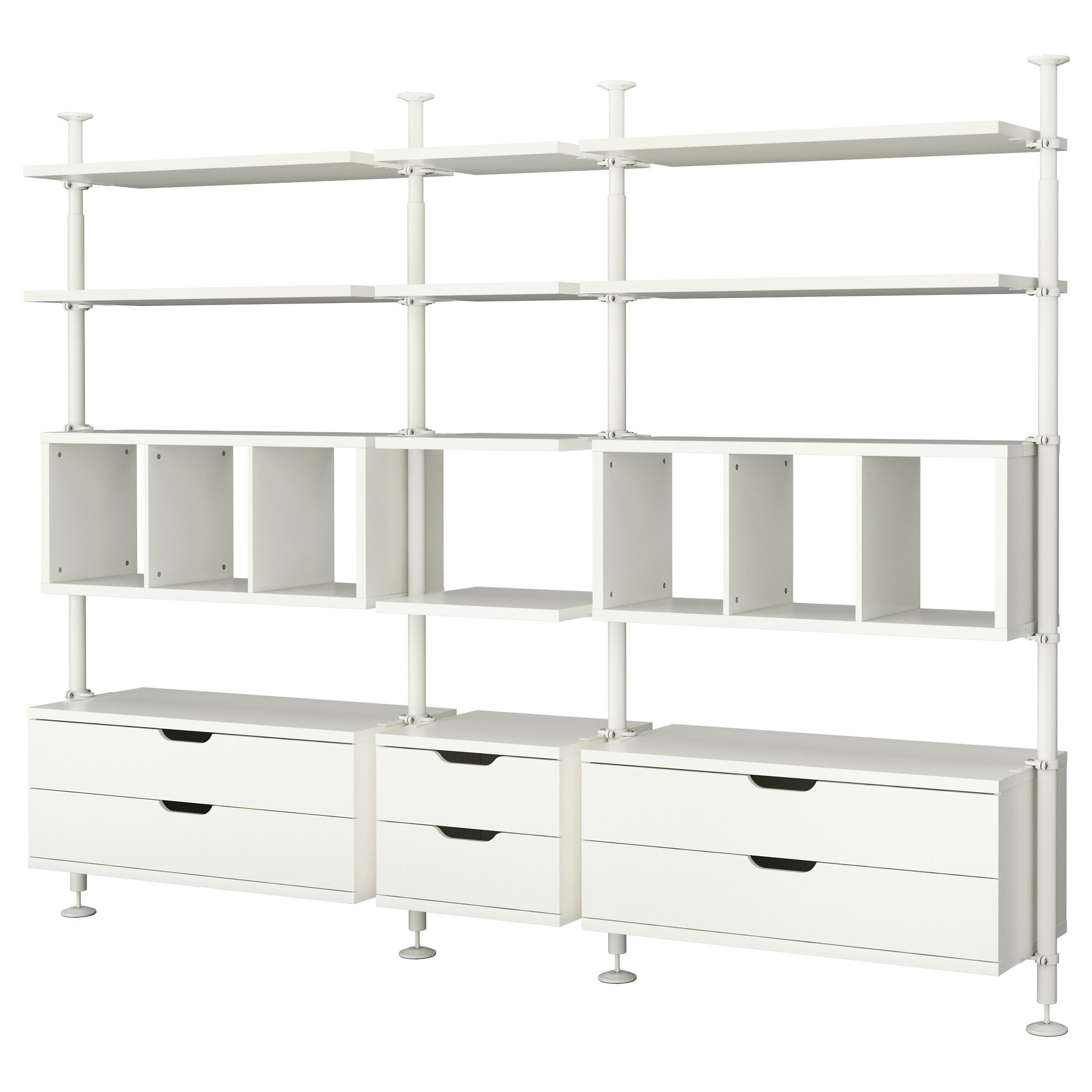 stolmen 3 sections ikea for one side of storage closet
