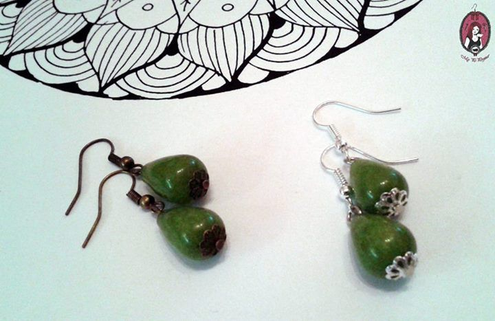 Green jade earrings   https://www.facebook.com/blitheproject/  http://www.blitheproject.hu/