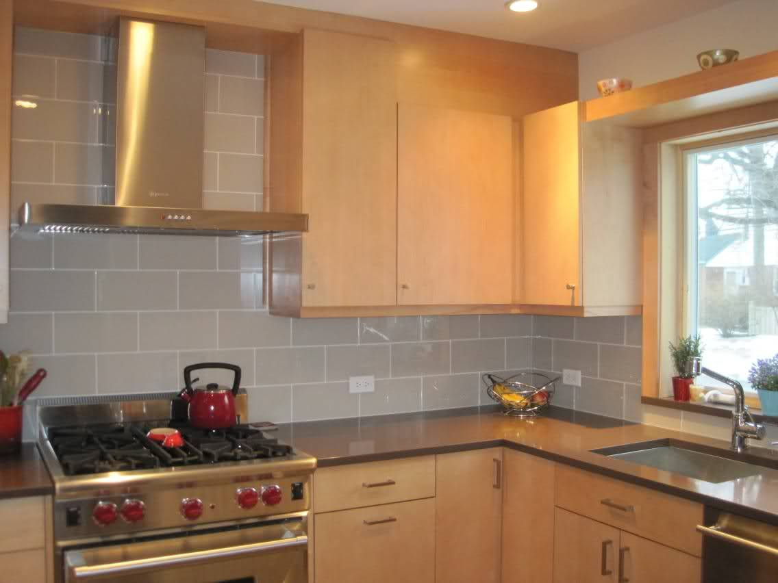 Black Subway Tile Kitchen Refinish Sink Smoke Glass 4 Quot X 12 Backsplash