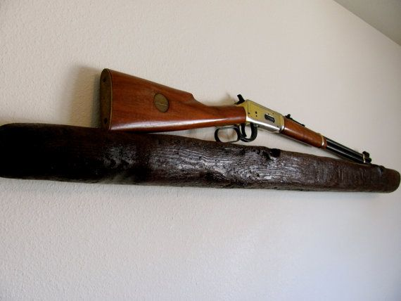 Wall Hanging Gun Display By Giddyuprustic On Etsy 8000 Rustic
