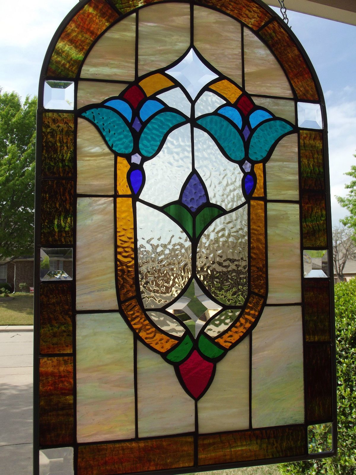 Victorian Stained Glass Window Panel With Bevels | Pinterest ...