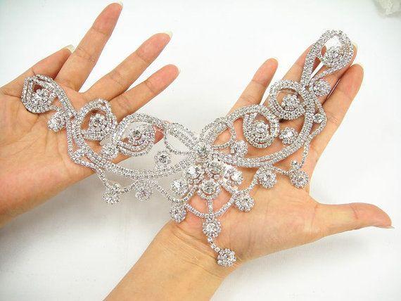 Diamante apliques apliques de diamantes de imitación corazón | boda ...