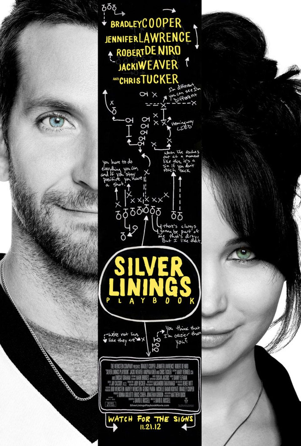 Poster of Silver Linings Playbook | Great films, Good ...