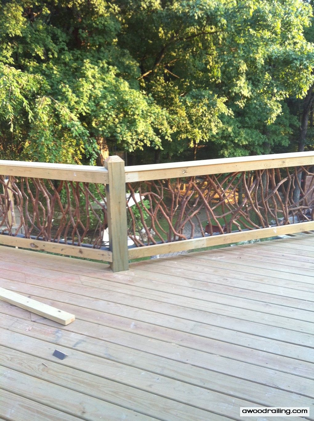 Deck Idea Porch Railing Rustic Wood Handrails For Your